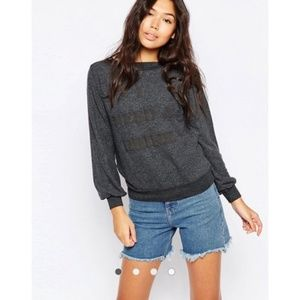 WILDFOX I Need A Drink Brunch Romper Sweatshirt S